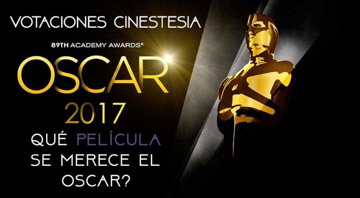 Votación: Mejor Película en Los Oscars 2017